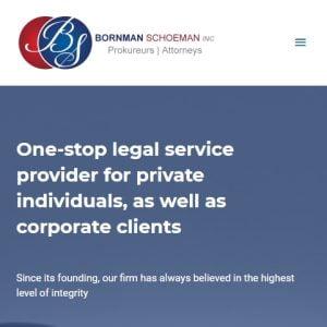 Website Design Portfolio - Born Law